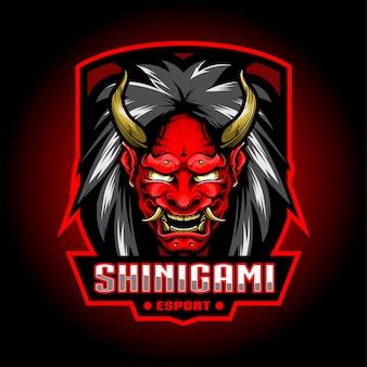 Shinigami esport mascot logo design