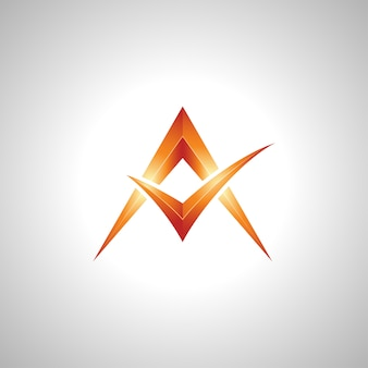 Shining 3d letter a symbol image vector