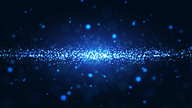 Shining abstract particles background.