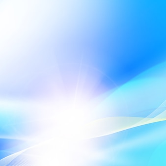Shining blue background.