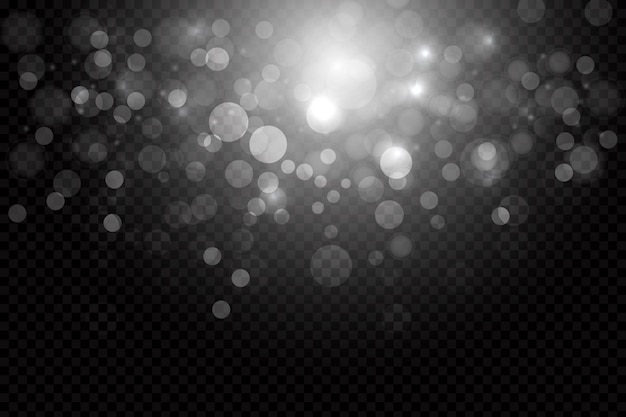 Shining bokeh overlay background