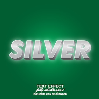 Shining bright 3d silver text style