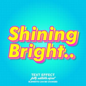 안내 책자에 대 한 빛나는 밝은 글꼴 효과
