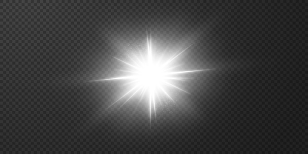 リアルなまぶしさで輝く明るい光線。