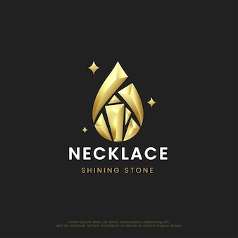Shining diamond necklace stones logo design