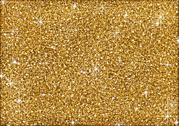 Shining golden glitter background with stars