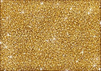 Shining Golden Glitter Background