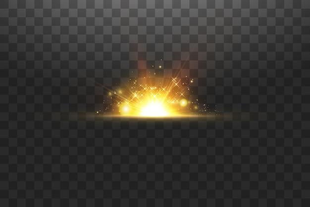 Сияющие золотые звезды, изолированные на черном фоне