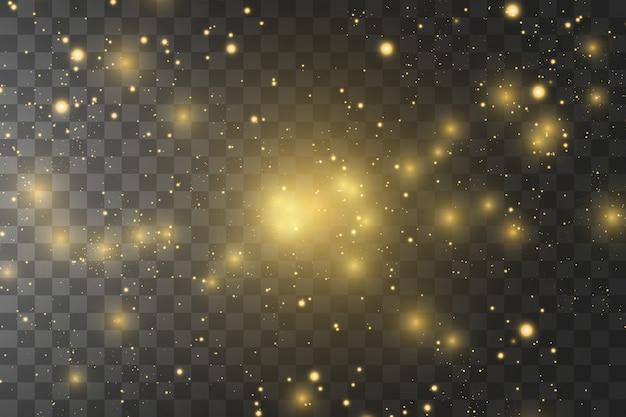 分離された輝く黄金の星。ベクトルイラスト。