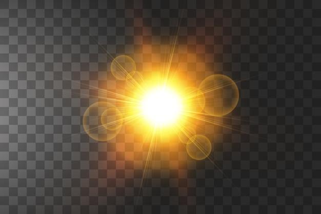 孤立した輝く黄金の星。