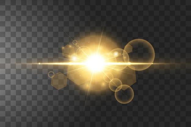 고립 된 빛나는 황금 별