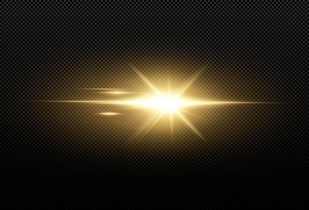 Shining golden stars isolated