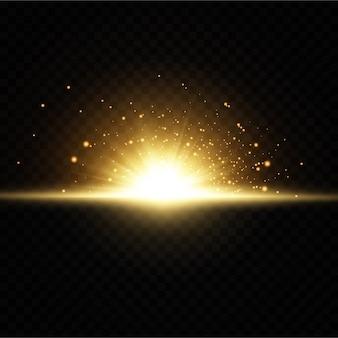 Сияющие золотые звезды на черном фоне.