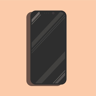 Shining iphone x smartphone mock up realistic vector