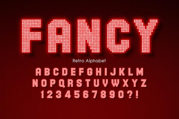 Яркий светодиодный алфавит, дополнительный светящийся шрифт.