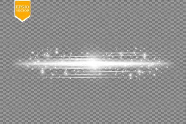 Сияющая линия со световыми эффектами