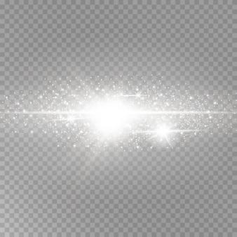 Shining luminous dust and glare.
