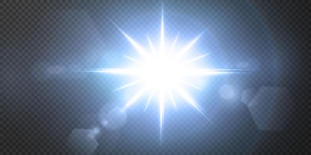 Сияющие неоновые звезды, изолированные на черном фоне.