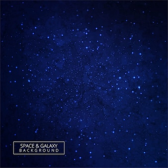 Shining of the stars in space blue galaxy background