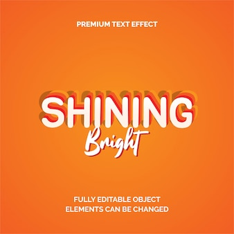 Shining premium text effect