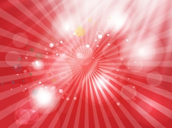 Shining red bubbles light background