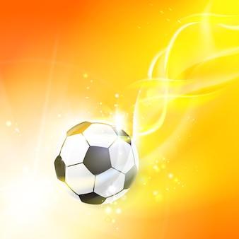 Сияющий футбольный мяч