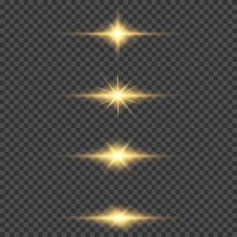 Shining star, the sun particles and sparks with a highlight effect, color bokeh lights glitter and sequins