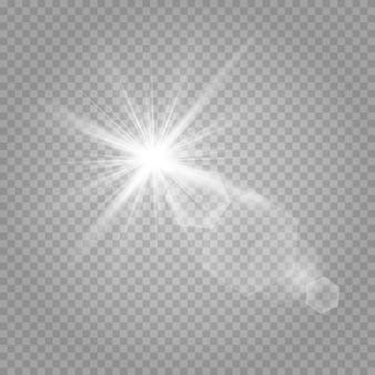 輝く星と輝くグレア