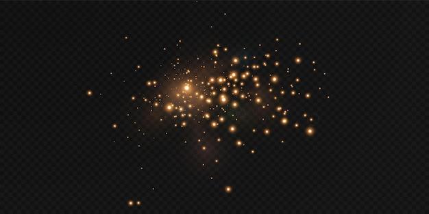 Shining stars fly across the night