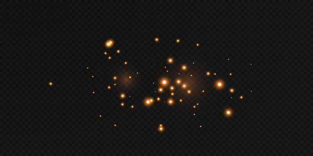 Сияющие звезды летают в ночи