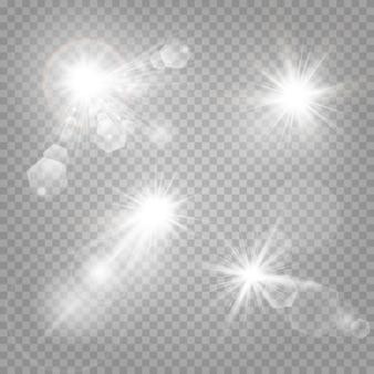 Shining stars isolated on
