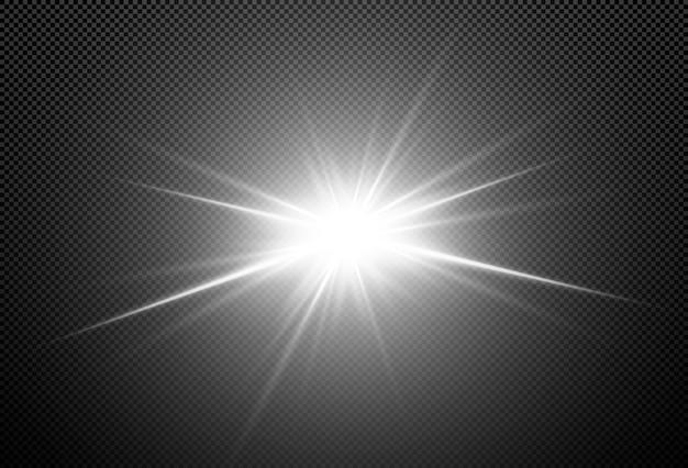 Shining stars isolated