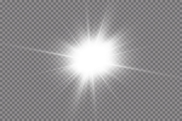 Shining sun, bright flash. the center of a bright flash.