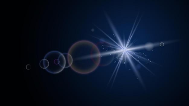 光の効果で輝くベクトル太陽