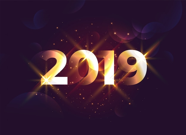 Shiny 2019 creative new year background
