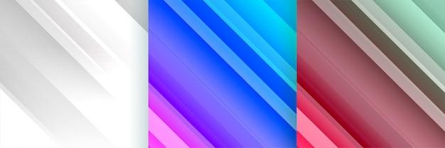 斜めの線で設定された光沢のある抽象的な背景