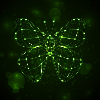 Shiny abstract butterfly