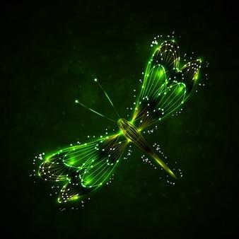 Shiny abstract dragonfly
