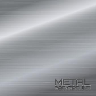 スチールシルバークロムサーフェスのベクトル図と光沢のある抽象的な金属の背景
