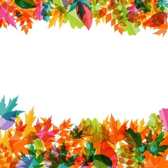 Блестящие осенние естественные листья фон. векторная иллюстрация eps10