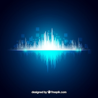 Shiny background with abstract sound wave