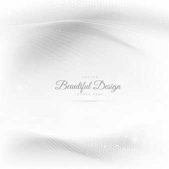 Shiny beautiful waves in white background with halftones