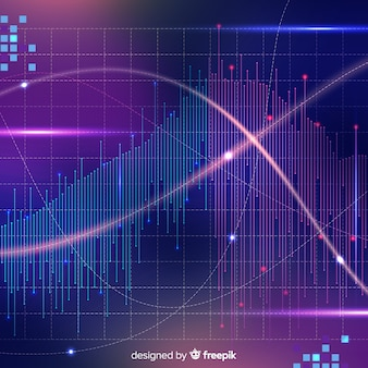 Shiny big data background in abstract style