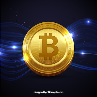 Shiny bitcoin background