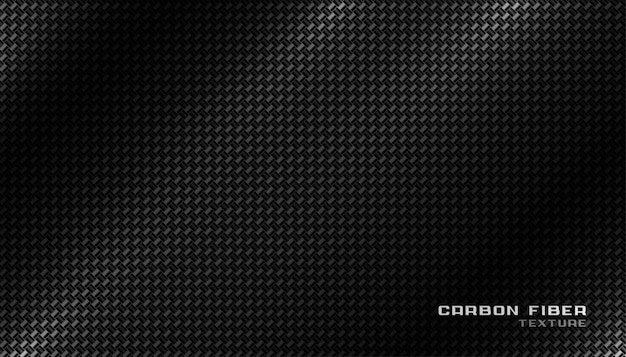 Shiny black carbon fiber material texture background