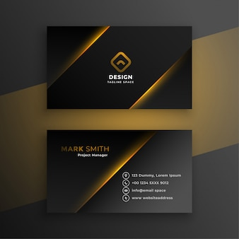 Shiny black modern business card template