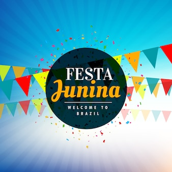 Shiny blue festa junina design