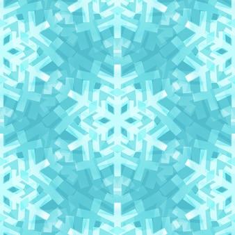 シャイニーブルーのスノーフレーククリスマスデザインのためのシームレスなパターン