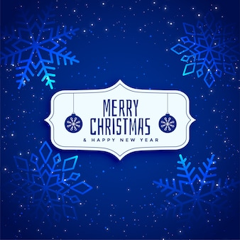 Shiny blue sparkle christmas background