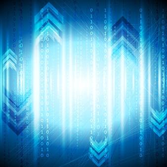 Блестящий синий технический абстрактный фон. векторный дизайн